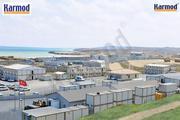 Вахтовые поселки и строительные площадки Кармод в Астане,  Казахстан